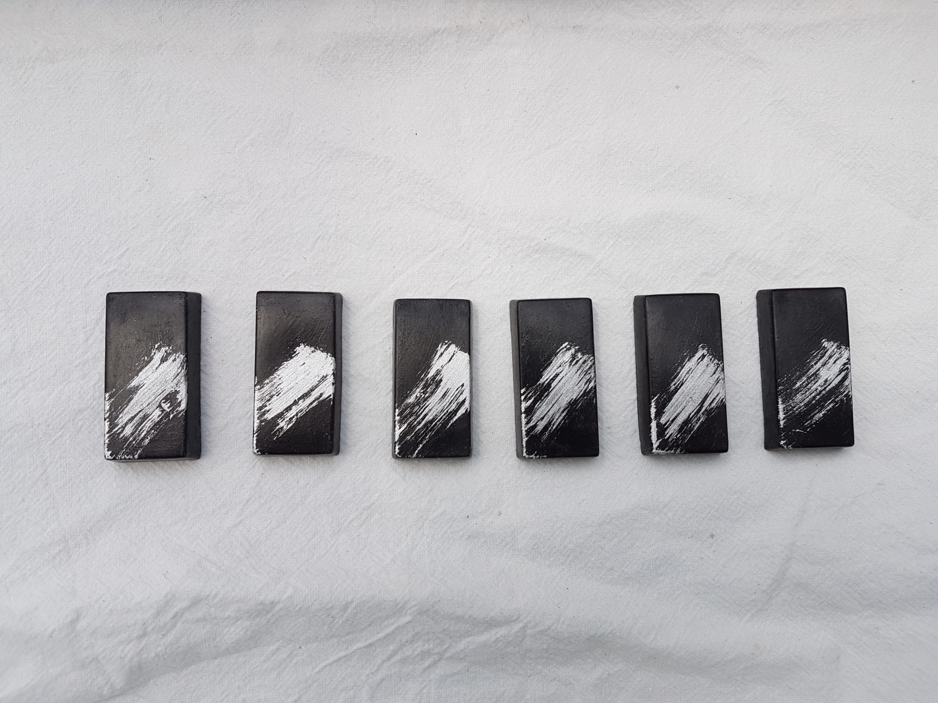 Porte-Couteaux Béton Rectangulaires Noir et Argent