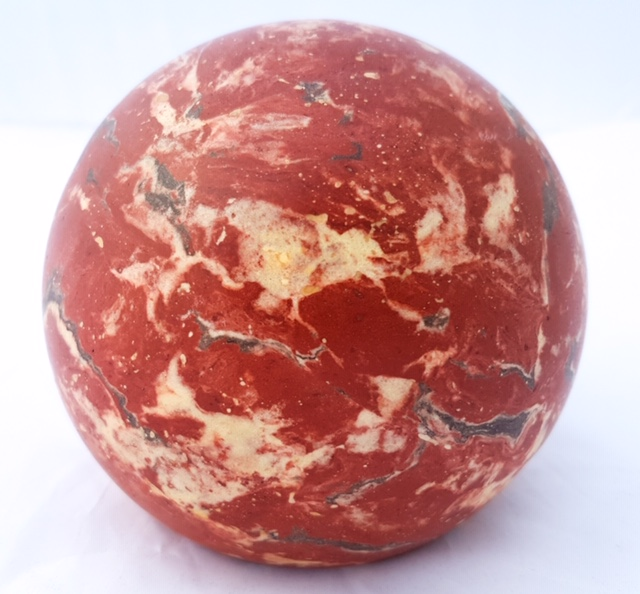 Boule Stuc Marbre Rouge