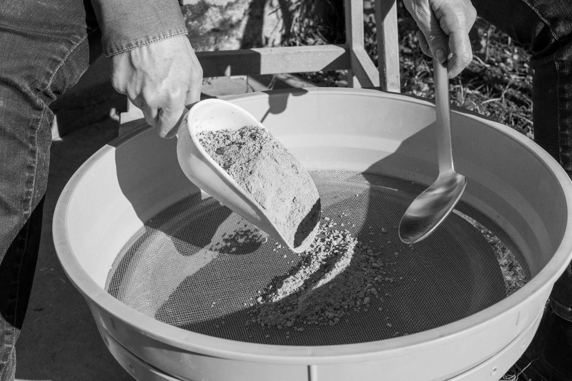 Tamisage du Ciment