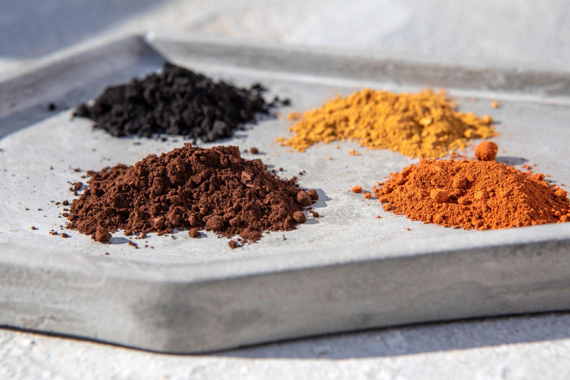Pigments Ocre Brun Noir