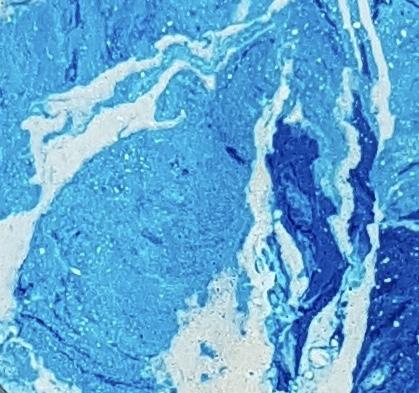 Détail Stuc Marbre Bleu